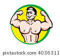 Athlete with muscles 4036311