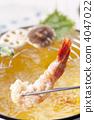 天妇罗 少量面糊拌油炸鱼和蔬菜 油炸食品 4047022