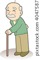 The grandfather wearing a cane 4047587
