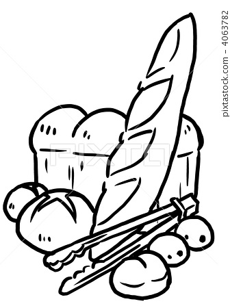 French bread pen drawing 2 4063782
