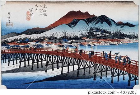 Ukiyo-e Tokaido 53th Kyoto 4078205