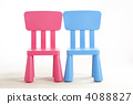 Red and blue chairs 4088827