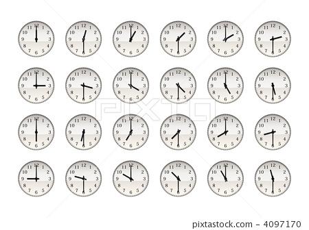 针时钟24小时(增量30分钟) 4097170