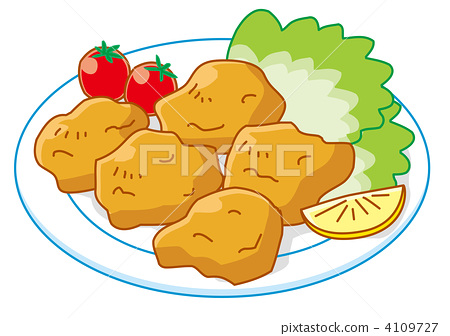 Fried chicken with 5 pieces 4109727