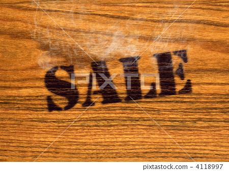 Branding Iron Sale Wooden Wall Stock Illustration 4118997 Pixta