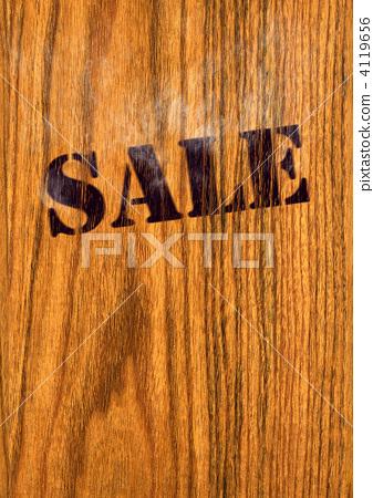 Branding Iron Sale Wooden Wall Stock Illustration 4119656 Pixta