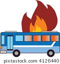 公共汽车燃烧 4126440
