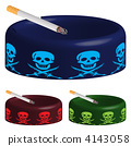 ashtray with skuls and cigarette 4143058