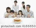 家庭慶祝生日 4166650