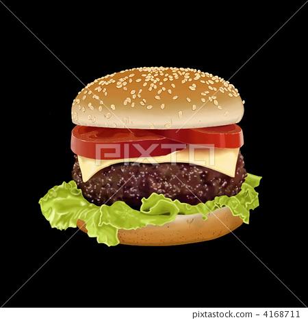 illustration, western food, fast food 4168711