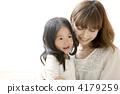 幸せそうにな母と子 4179259
