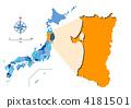 지도, 아키타, 일러스트 4181501