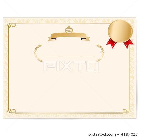 certificate of merit medal medals 4197023
