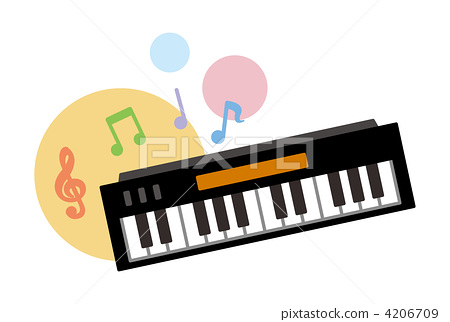 Keyboard Keyboards Note Symbol Stock Illustration 4206709 Pixta
