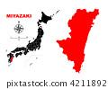 Miyazaki Prefecture - Map 4211892
