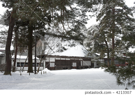 motsuji temple, snow scene, snowy 4213307