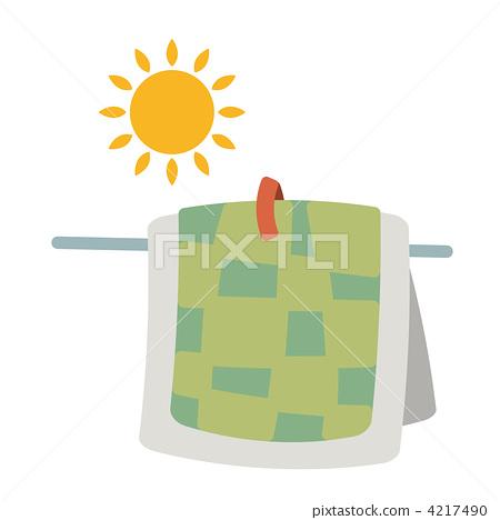 bedding, futon, sun drying 4217490