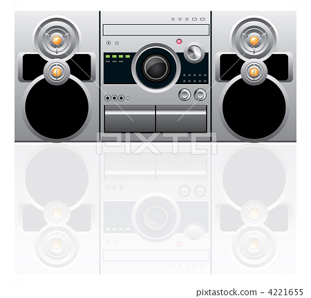 CD and cassette player 4221655