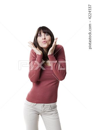 Beautiful woman blowing a kiss 4224537