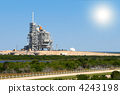 space shuttle on launch platform with son 4243198