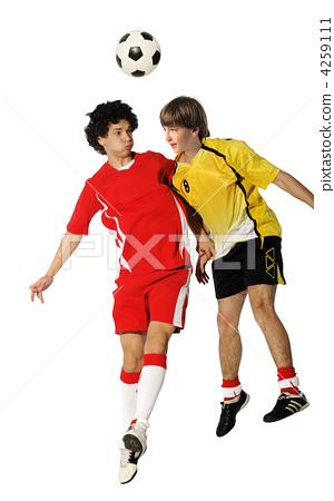 Boys with soccer ball, Footballers 4259111