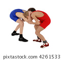 two wrestlers Greco-Roman wrestling 4261533