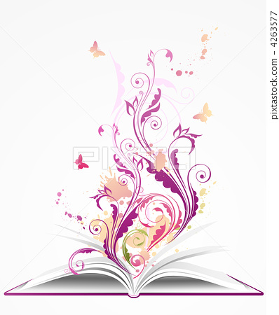 background with open  book 4263577