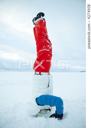 Headstand in winter 4274958