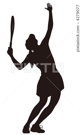 Tennis · Serubutsu · Silhouette (whole body) 4279077