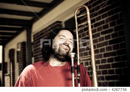A trombone player 4287736