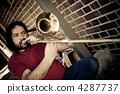 A trombone player 4287737