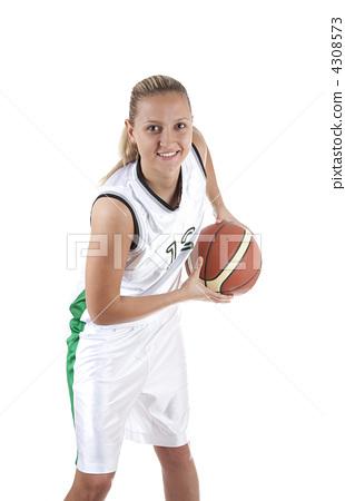 Smiling basketball player 4308573