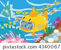 潜水艇 儿童 孩子 4340067