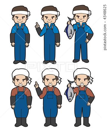 Worker (pose) Fishery / fisherman 4348625