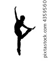 street dancer silhouette on white background 4359560