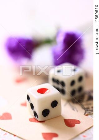 소형 한 카드 & 주사위 4360610