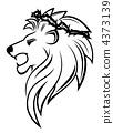 Heraldic lion with thorny wreath 4373139