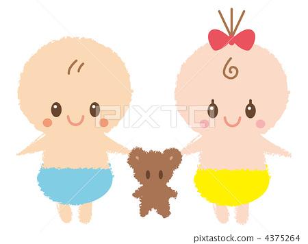 단짝 아기 4375264