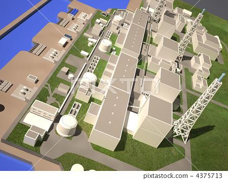 Three-dimensional layout of Fukushima nuclear plant 4375713