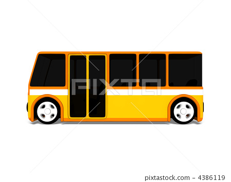 bus, side view, full body statue 4386119