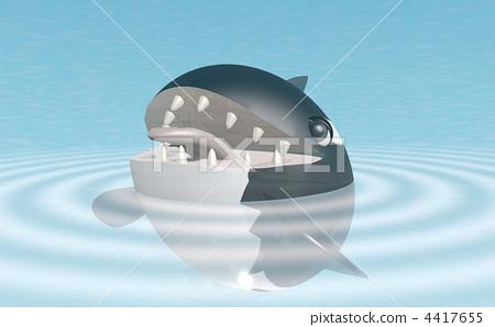 killer whale, 3d, three dimensional 4417655