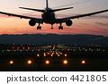 喷气式飞机 出发 降落 4421805