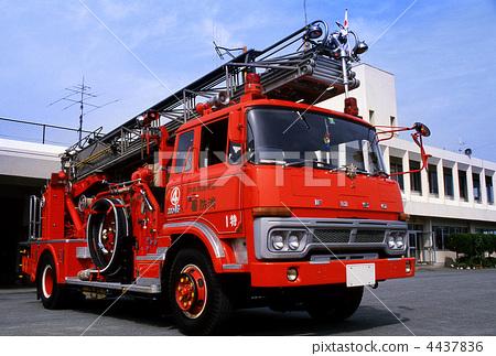 Stock Photo: firetruck, kyushu, kumamoto