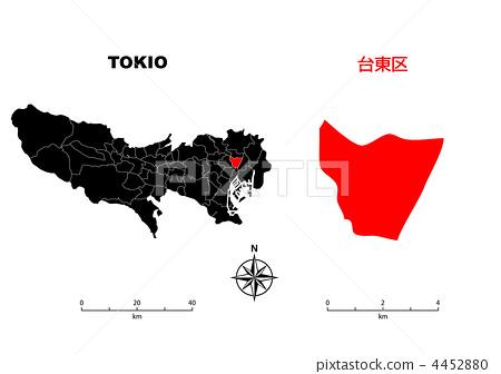 台東 - 東京地圖 4452880
