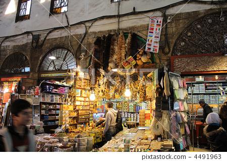 시리아 다마스쿠스 바자 특산품 점 4491963
