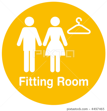 Fitting room, pictogram, pictograms 4497465