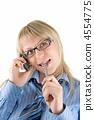 Speaking on phone 4554775