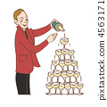 champagne tower, caucasian, men 4563171