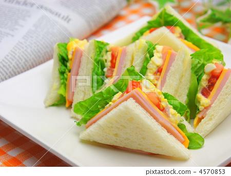 火腿三明治 雞蛋三明治 三明治 4570853