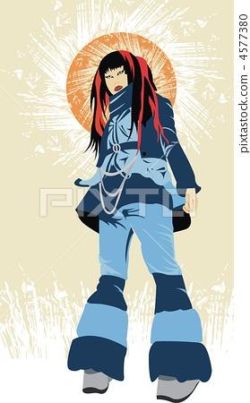 Girl Blue Suit 4577380